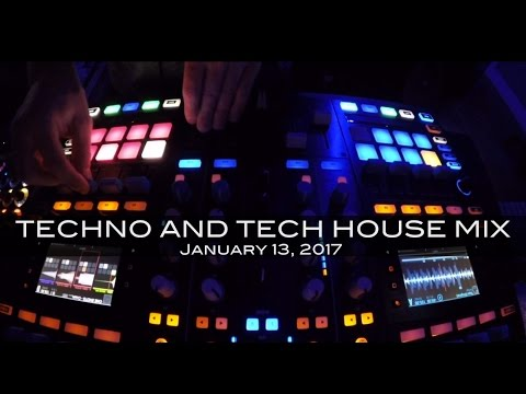 Techno Tech House Mix Deep Underground House Dance January 13,  2017 60 Minutes