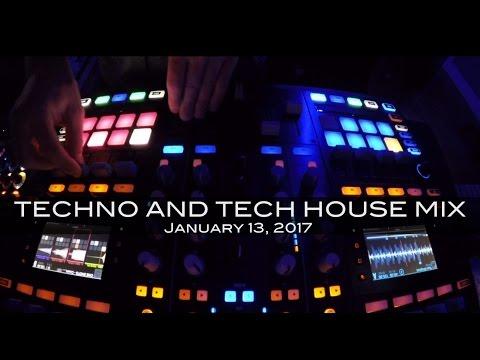 Techno Tech House Mix Deep Underground House Dance January 13,  2017 60 Minutes