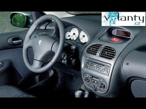 hvordan man demonterer rattet og airbaggen Peugeot 206 facelift