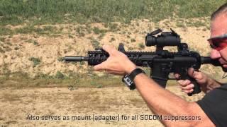 SureFire WarComp flash hider live-fire video