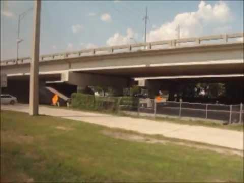 Ride on Amtrak 98 from Orange Park, FL to Jacksonville Station (Old Video)