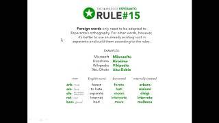 Corso di esperanto per italofoni. Lezione 10 (parte 2). 14/05/2020.