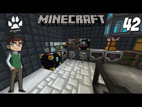 Automatically Processing Ores from the Void Ore Miner : 1.12 Modded Minecraft DireWolf20 : E42