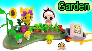 Lol Surprise Pet Bunny Helps Shopkins In Garden - Toy Video
