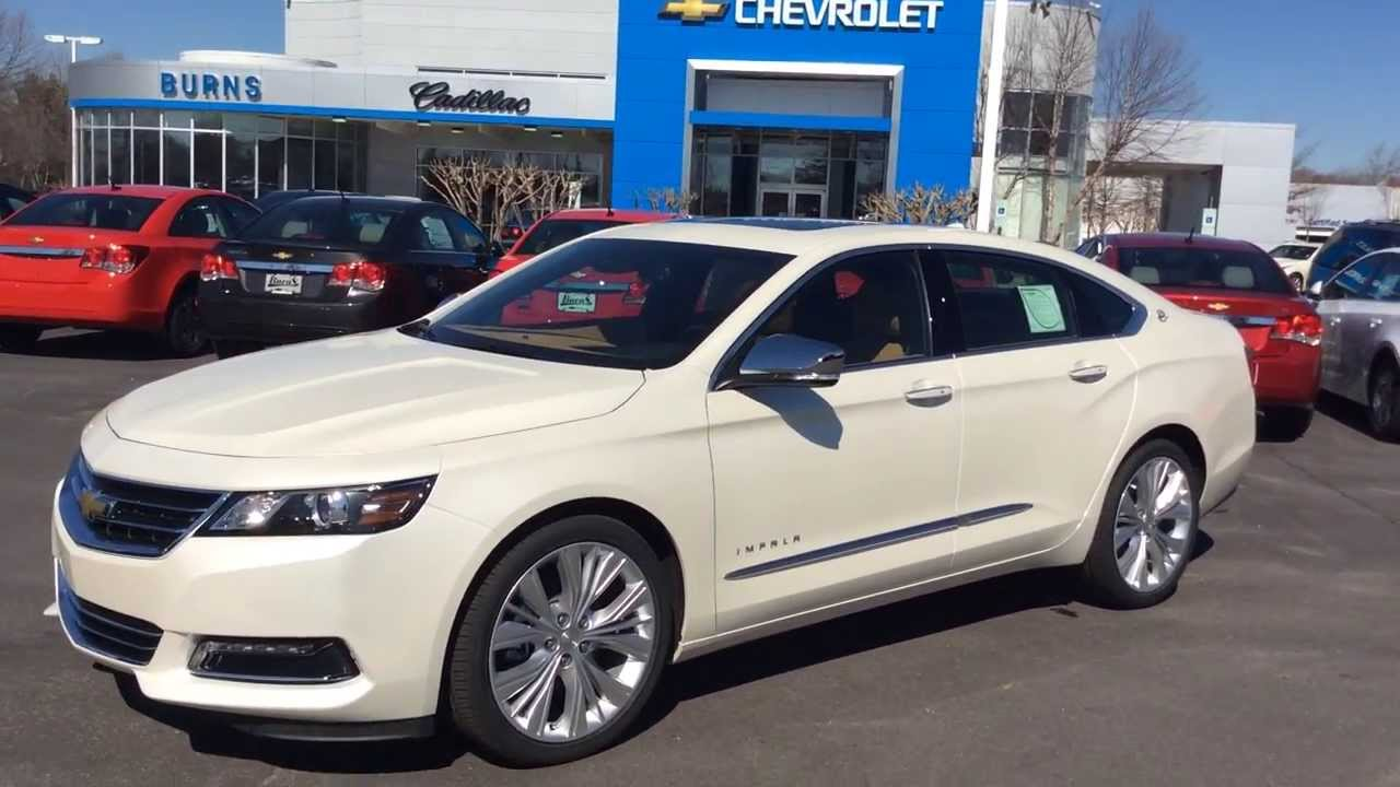 2014 Chevrolet Impala 2LZ Diamond White, Burns Cadillac Chevrolet ...
