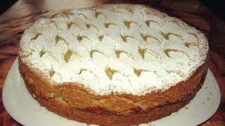 Яблочный пирог с нежным кремом.