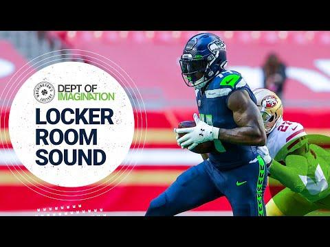 DK Metcalf Breaks Steve Largent's Franchise Record | 2020 Locker Room Sound at 49ers