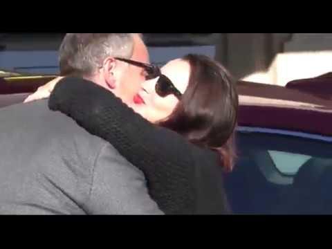 Fran Dresser kisses ex husband Peter Jacobson in Beverly Hills