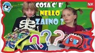 COSA C'È NELLO ZAINO ? NIKITA E MAFALDA - Back to school  a scuola con PETIT FERNAND - Canale Nikita