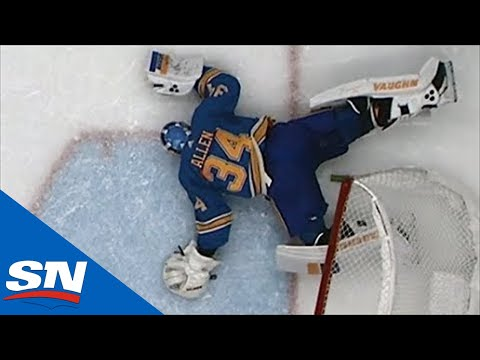 Blues' Jake Allen Injured After Phenomenal Save On Saad