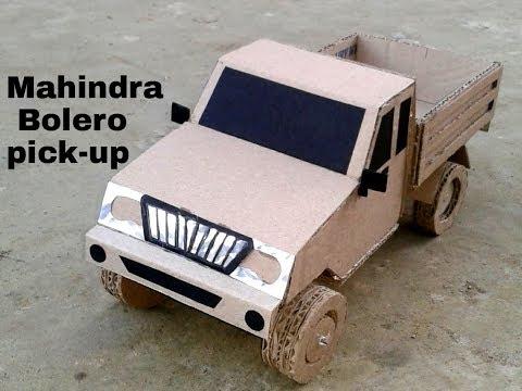 How to Make RC Mahindra Bolero pick- from Cardboard
