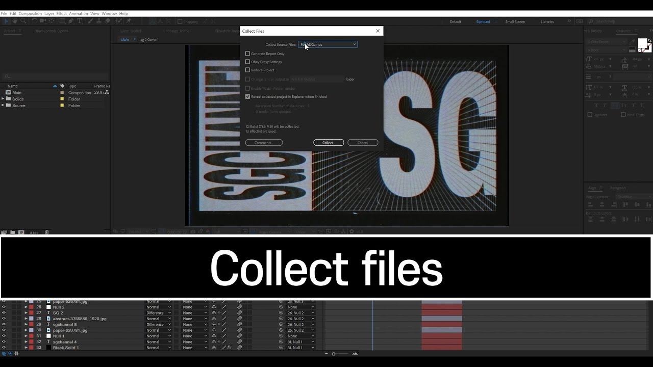 #aftereffects #collect files
