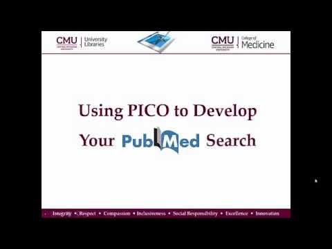 Using PICO to Develop Your PubMed Search