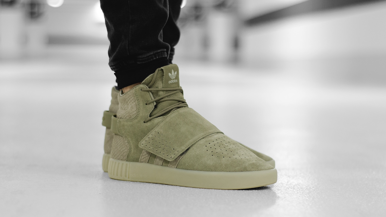 adidas Originals Tubular Invader Strap Sneakers In Blue BB5036 Asos