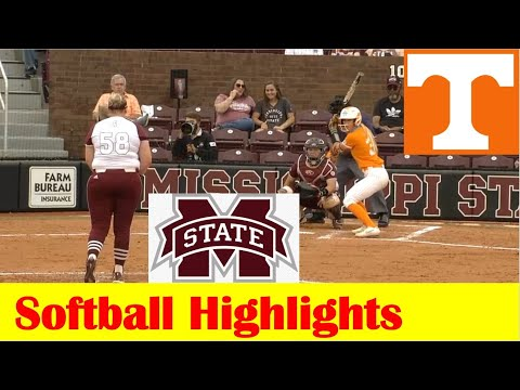 #17 Tennessee vs Mississippi State Softball Game 1 Highlights 5 5 2021
