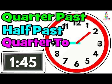 Telling the Time | Time for Kids | Quarter Past, Half Past, Quarter To | Digital Clock, Analog Clock