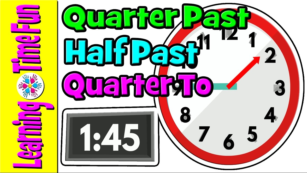 Telling the Time | Time for Kids | Quarter Past, Half Past ...