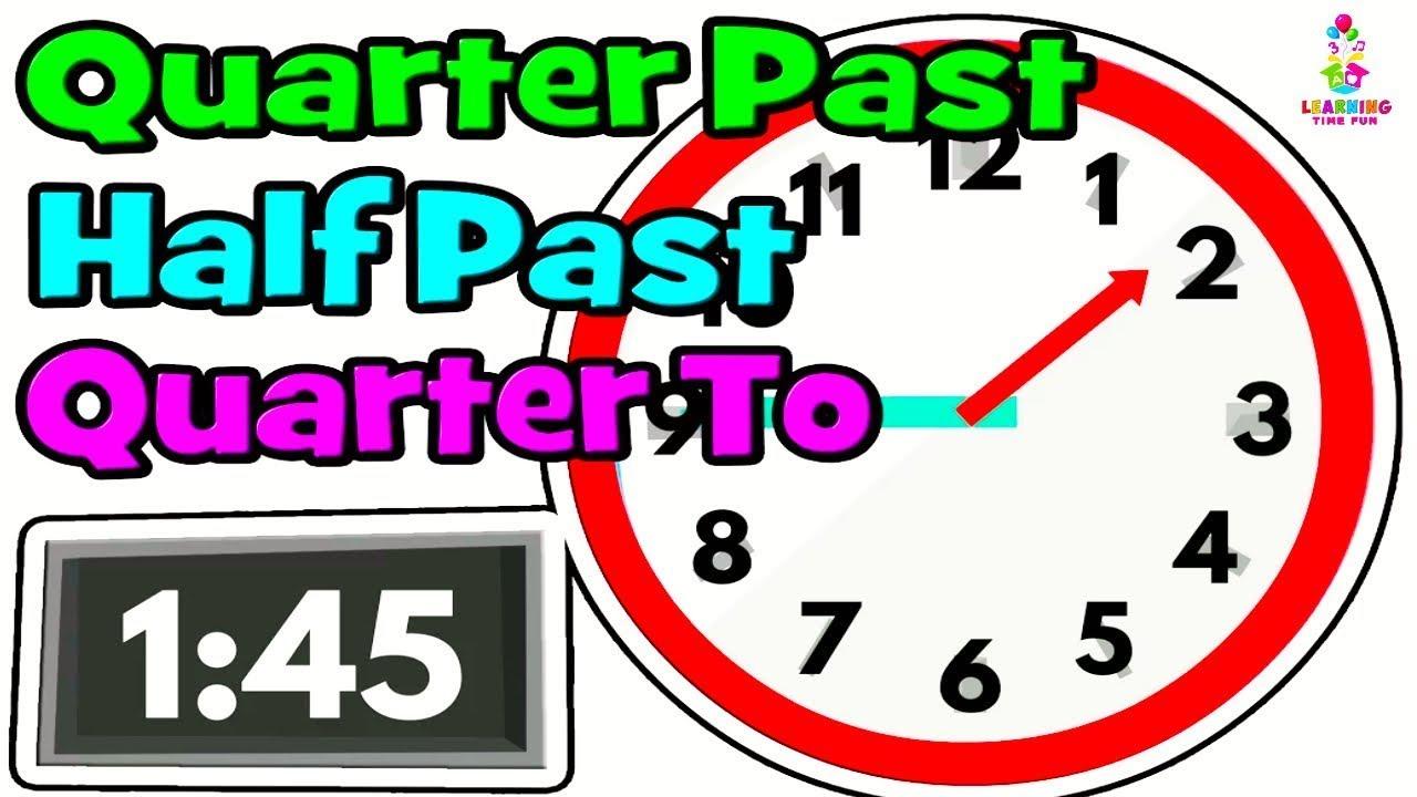 telling the time time for kids quarter past half past quarter to digital clock analog. Black Bedroom Furniture Sets. Home Design Ideas