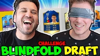 BLINDFOLD FUT DRAFT CHALLENGE w BrazoCrew - FIFA 17 Ultimate Team