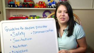 Day Cares & Child Care : Guidelines for Your Child Care Provider to Use
