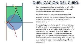 La cisoide de Diocles. La duplicación del cubo.
