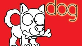 So schalten Sie die Wörter Hund In einem Comic-Hund - Lê Phong Giao Kunst