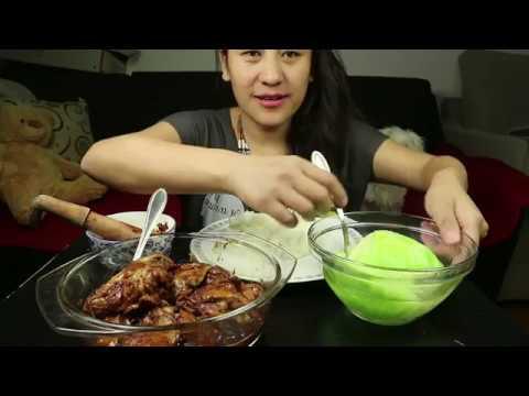 FILIPINO FOOD SPICY CHICKEN ADOBO COOKBANG MUKBANG