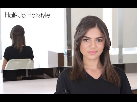 How To Easy Half Up Style For Mid Length Hair Youtube
