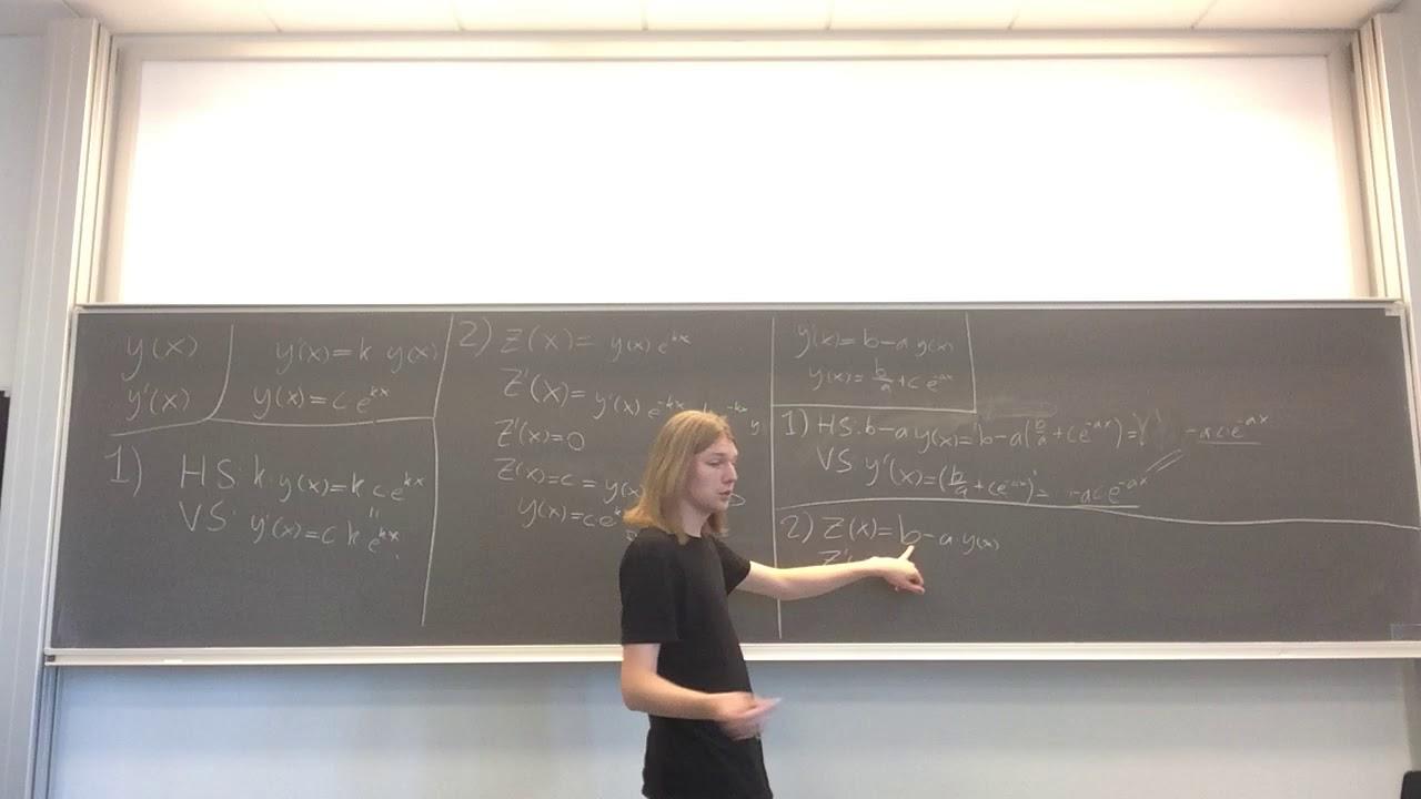 Årsprøve Video - Opgave 9: Differentialligninger