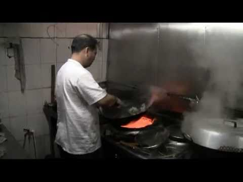 Fast Chinese Cooking  (Big Fire Wok In China)   Hoiping Near Toisan