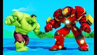 Мультик игра для детей Халк против Халкбастера и Тачки машинки в мире Дисней Disney Pixar Cars Hulk