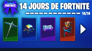 all the challenges and rewards of 14 days of Fortnite!