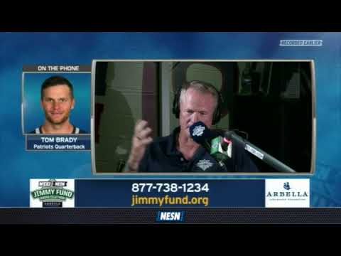 WEEI/NESN Jimmy Fund Radio-Telethon: Tom Brady