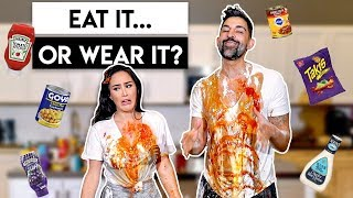Eat It Or Wear It Food Challenge | Dhar and Laura