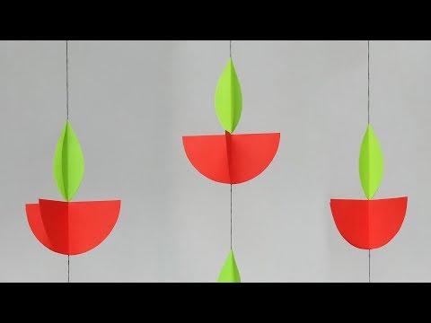 DIY Diwali Decoration Ideas l Diwali Home Decoration l Diya Wall Decoration Craft