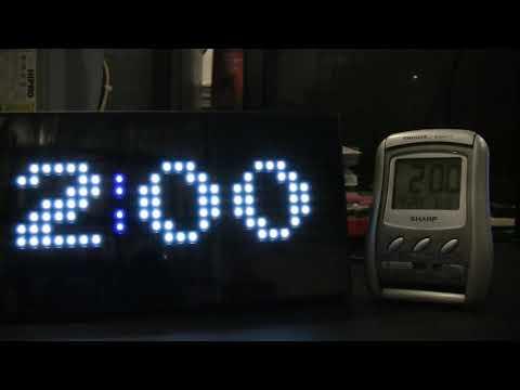 Pac-Man Premium LED Desk Clock Experiment