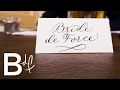 DIY Wedding Invitations: Calligraphy