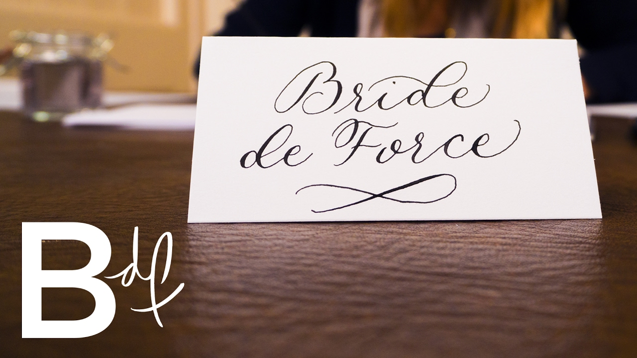 Diy wedding invitations calligraphy youtube solutioingenieria Image collections