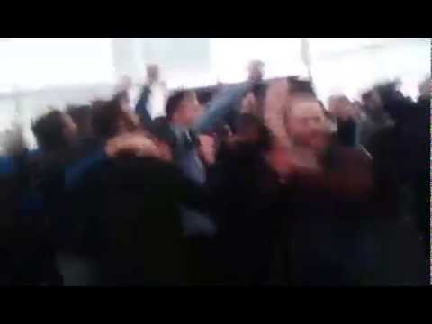 """08/11/2015 - Man City fans in the Witton Arms (Villa away) """"Argentinian Blues""""."""