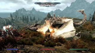Skyrim: Dragon Fight on Max settings 1080p HD (PC)