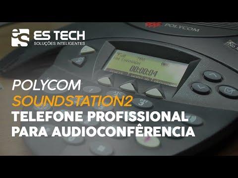 Telefone para AudioConferência - Polycom SoundStation 2 Em Português | ES TECH