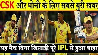 IPL 2019: पहले ही मैच से ठीक पहले CSK को लगा बड़ा झटका, यह दिग्गज खिलाड़ी हुआ बाहर...