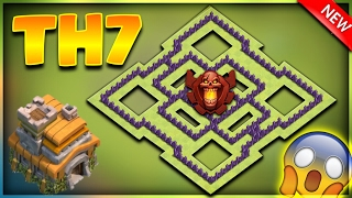 INSANE NEW TOWN HALL 7 (TH7) TROPHY/DEFENSIVE BASE DESIGN 2017-Clash Of Clans