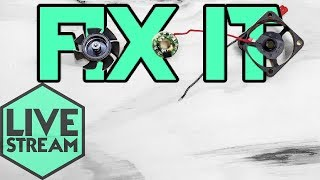 Fix It | Small Brushless Fan | 3D Printer Hotend | Live Stream