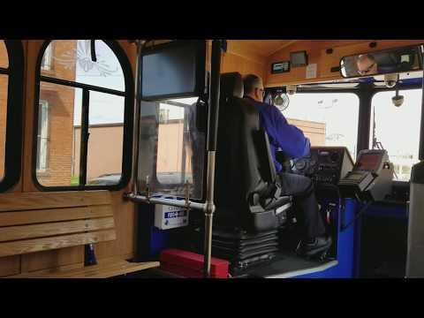 Hometown Trolley TANK Southbank Shuttle in Cincinnati, Ohio. Part 1 (Easter Weekend)