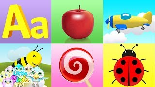 Phonics song with Three Examples for Each Letter   Educational Song For kids