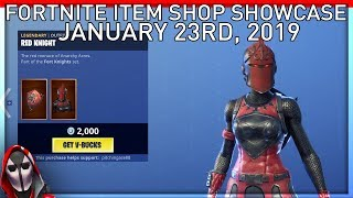 RED NIGHT IS BACK! January 23rd New Skins || Daily Fortnite Item Shop