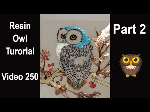 Resin Art/ HOW TO make an amazing OWL/ full tutorial/ How detailed can I work with resin?