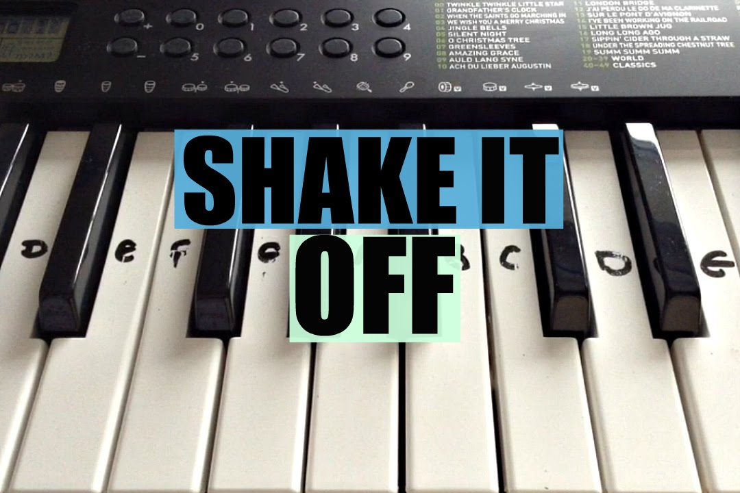 shake it off taylor swift easy keyboard tutorial with notes right hand youtube