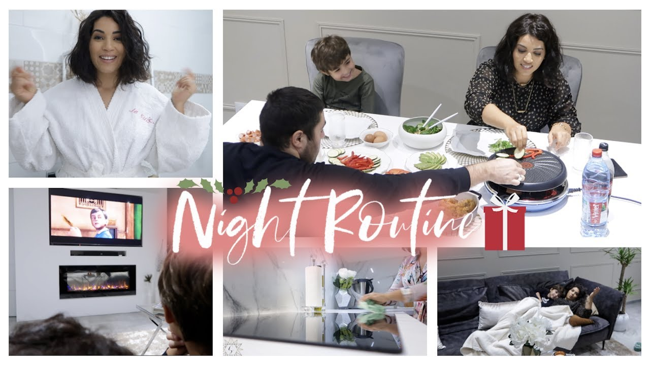 WINTER NIGHT ROUTINE ♡ | Raclette Party